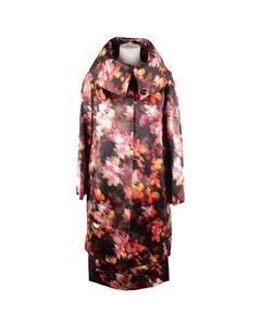 Versace Multicolor Silk Short Sleeve Dress & Coat Set Suit Size 40-42