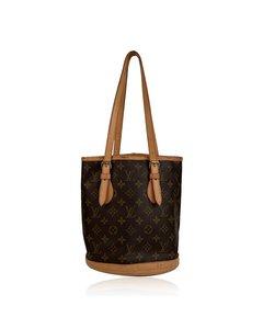 Louis Vuitton Monogram Canvas Bucket Pm Shoulder Bag Tote