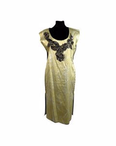 Vivienne Westwood Yellow Viscose Kleid Modell: Sheath dress