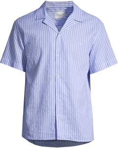 Upc Luke Linen Ss Shirt Light Blue Stripe