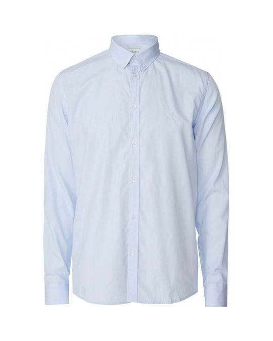 Les Deux Upc Perry Poplin Shirt Light Blue Stripe