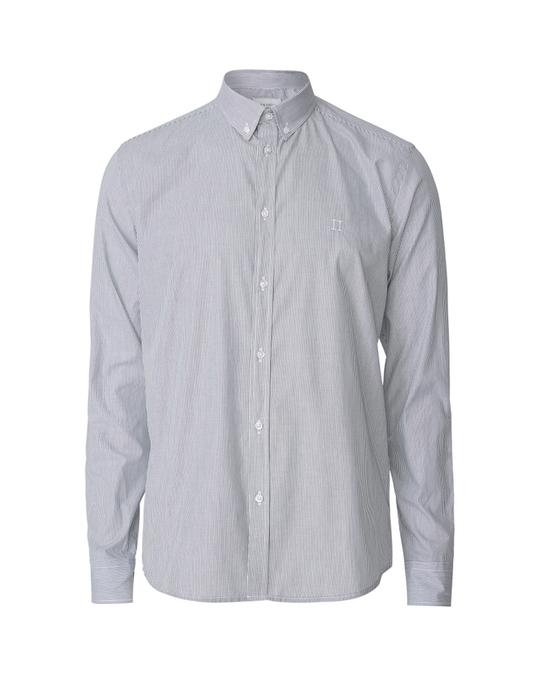 Les Deux Upc Perry Poplin Shirt Dark Navy Stripe