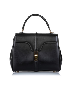 Celine Leather Small 16 Bag Black
