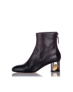 Alexander Mcqueen Ankle Leather Boot Black