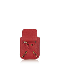 Balenciaga Classic Leather Phone Case Red