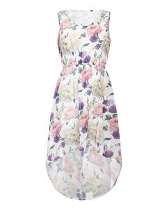 Rose High Low Dress Cream