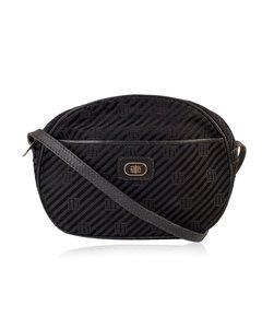 Emilio Pucci Vintage Blackcanvas Messenger Crossbody Bag