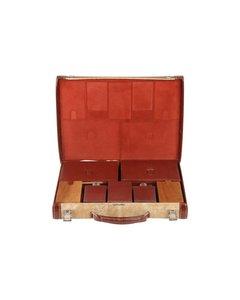 Hermes Beige Tyg Bagage Bag Modell: Grooming Set