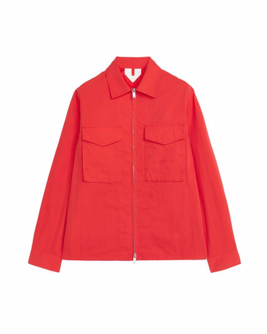 Arket High-Density Overshirt Red