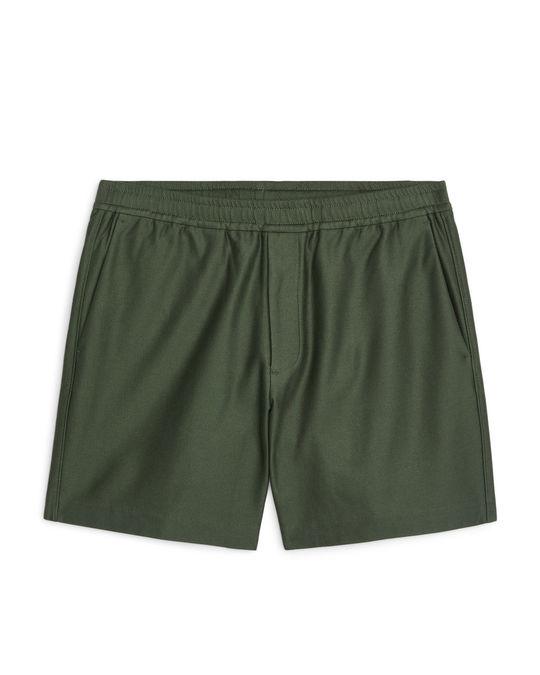 Arket Jersey Shorts Green