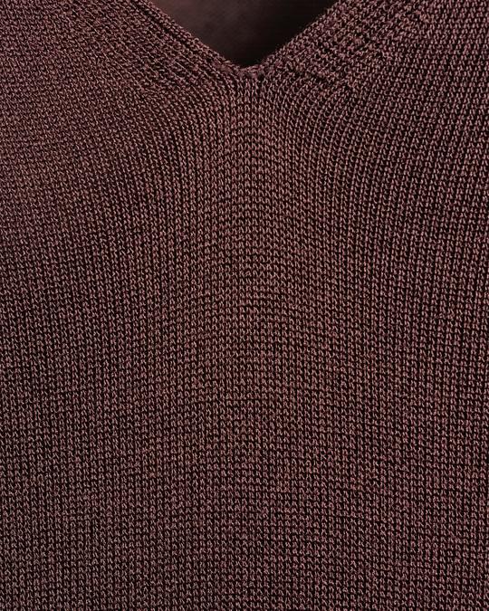Arket Sheer Knit Dress Brown
