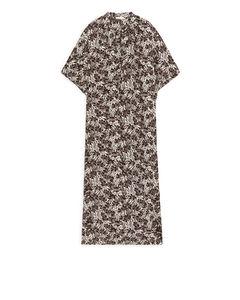 Kaftan Dress Brown/Floral