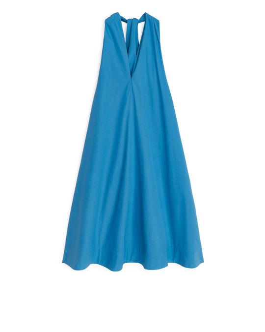 Arket Halter Dress Blue