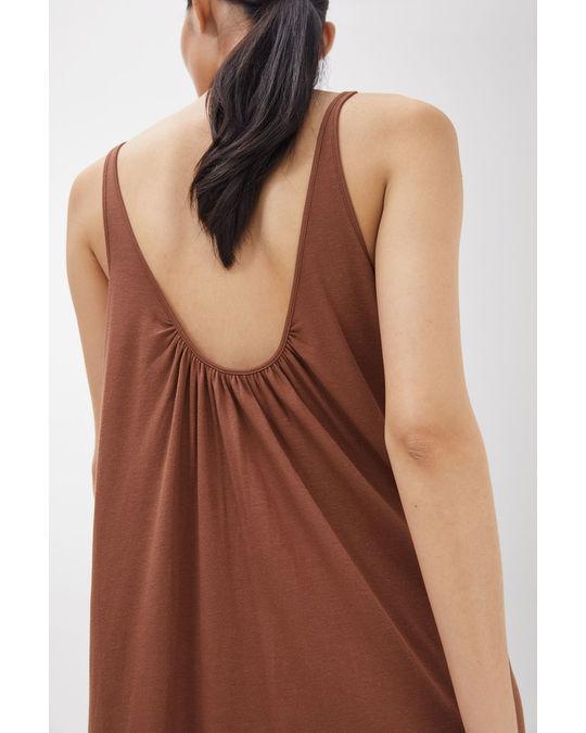 Arket Gathered Jersey Dress Blush
