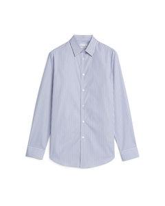 Shirt 6 Punch Stripe Popeline-Hemd Blau/Gestreift