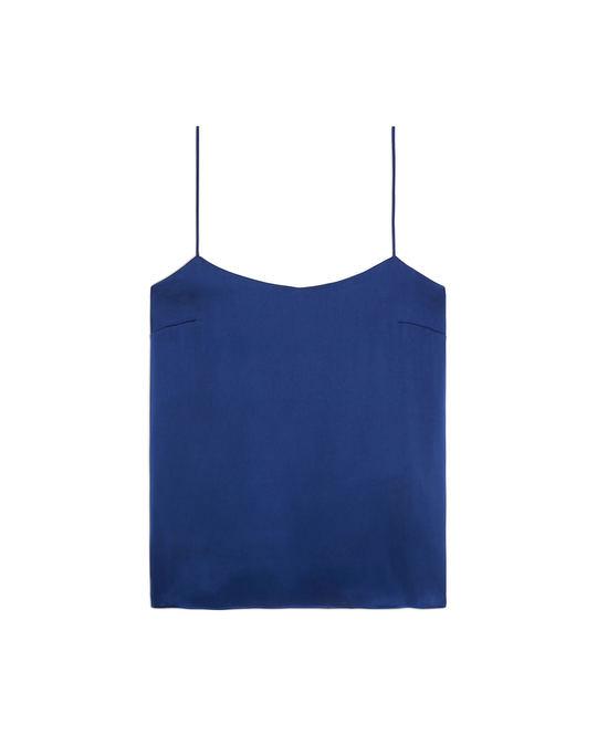 Arket Satin Strap Top Dark Blue