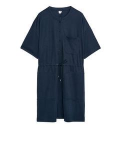 Jersey-Kleid mit Kurzarm Dunkelblau