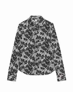 Floral Jersey Shirt Off White/Black