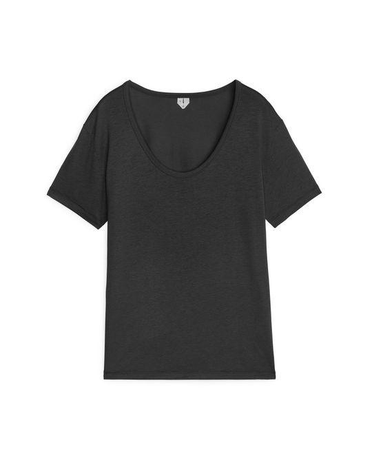 Arket Lyocell Cotton Top Black