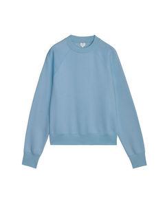 Pima Cotton Sweatshirt Mid Blue