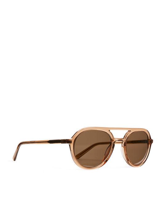 Arket Ace & Tate Paul Sunglasses Golden Brown