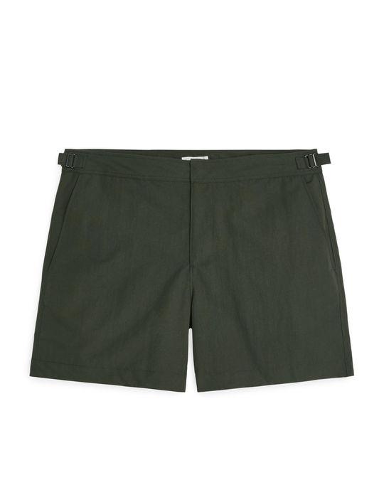 Arket Swim Shorts Olive Green