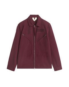 Aviator Shirt Jacket Burgundy