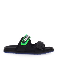 Dsquared2 Techno Green Logo Slide
