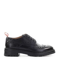 Barracuda Black Derby Lace-up Shoe