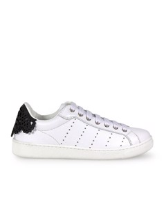 Dsquared2 Santa Monica White Black Lace Sneaker