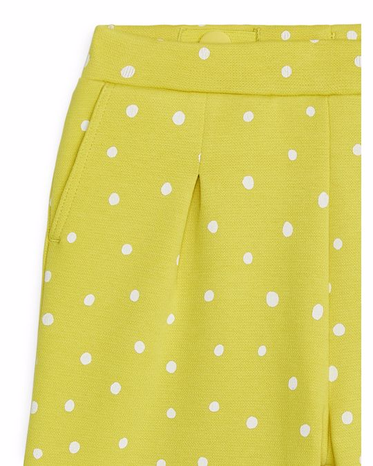 Arket Cropped Jersey Trousers Yellow
