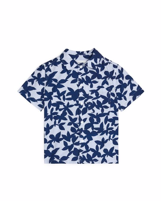 Arket Printed Poplin Shirt Blue/White