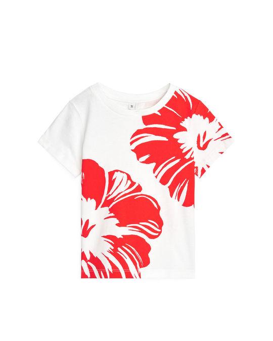 Arket Printed T-Shirt White