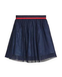 Mesh Skirt Blue