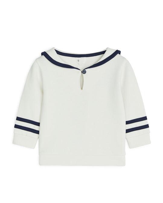 Arket Sailor Sweatshirt Off White