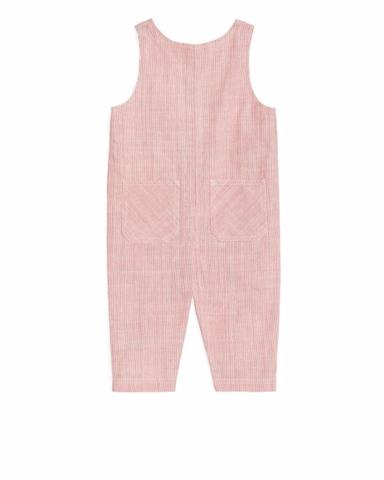 Arket Corduroy Dungaree Red/Off White