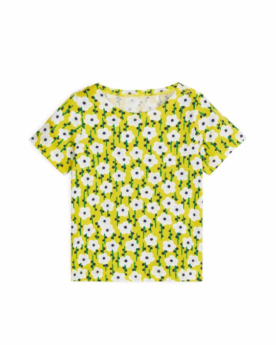 Arket Patterned Top Yellow