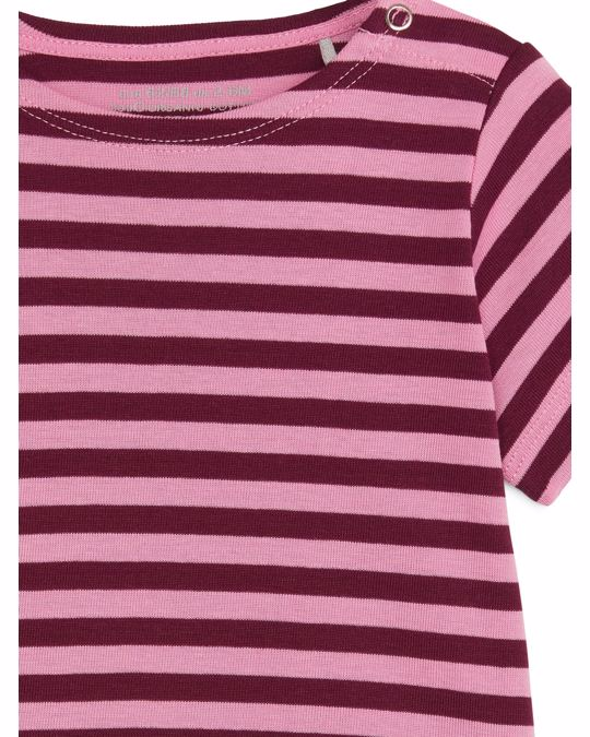 Arket Patterned Top Pink/Burgundy