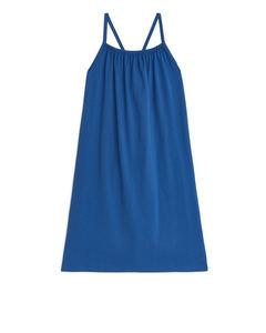 Jersey Strap Dress Mid Blue