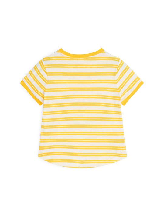 Arket Striped T-Shirt Yellow