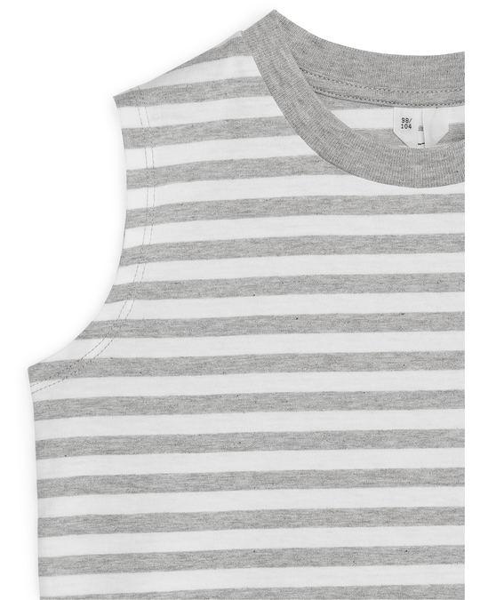 Arket Striped Tank Top Grey/White