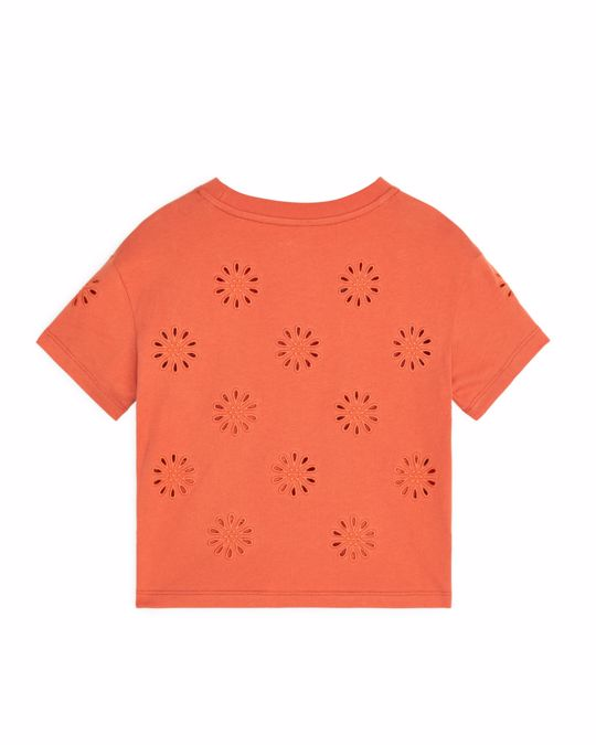 Arket Embroidered T-Shirt Orange