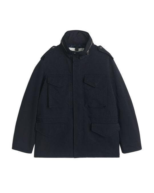 Arket Water-Repellent Field Jacket Blue