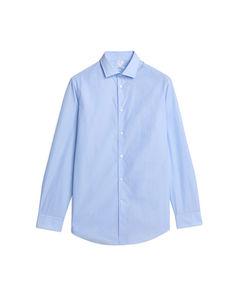 Shirt 8 Popeline Hellblau