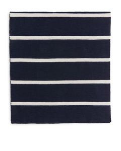 Raw Wool Scarf Dark Blue