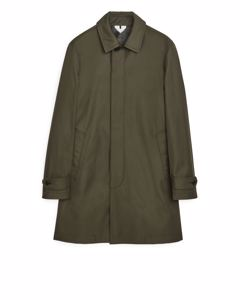 Cotton Twill Coat Green