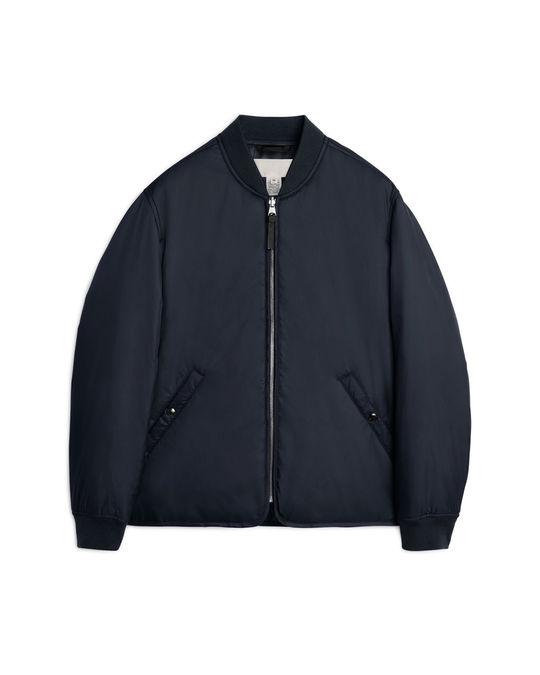 Arket Nylon Liner Jacket Dark Blue