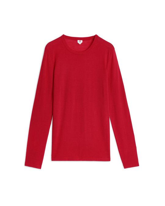Arket Merino Fine-Knit Jumper Red