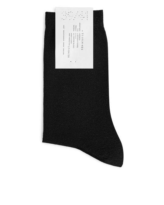 Arket Lurex Socks Black