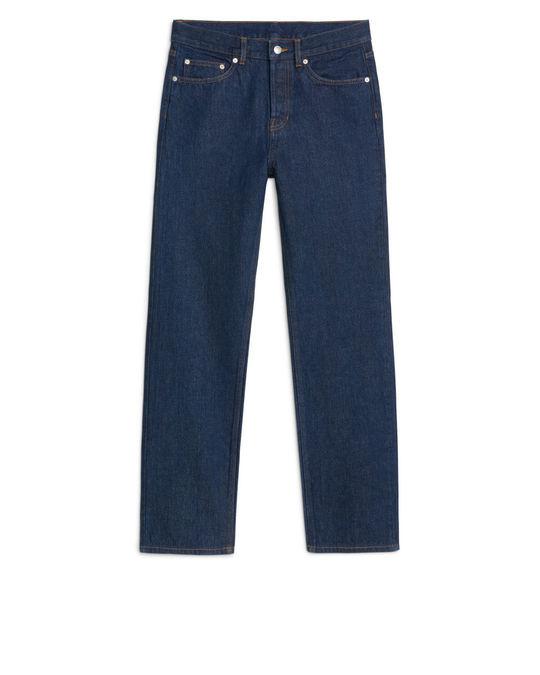 Arket Straight Rinsed Indigo Jeans Denim